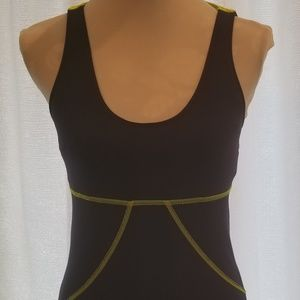Ellie Racerback Navy and Yellow